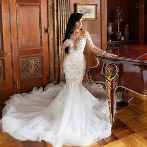 Luxury Elegant Mermaid Wedding Dress